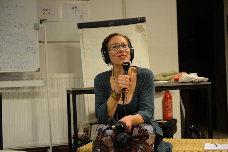 Katia de l'association La Boite, initiatrice du média ligne16