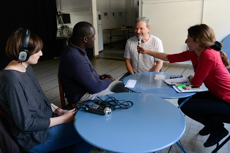 Léa assistante son, Tania, Mohamed et Bernard