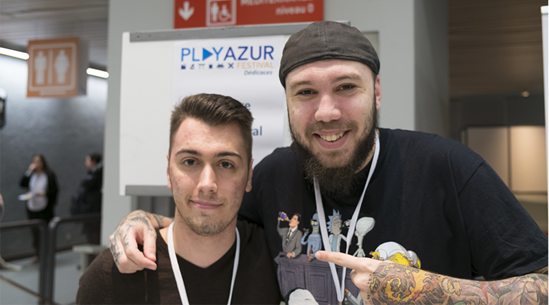 Le Youtubeur DarkFuneral972 à Play Azur Festival #3