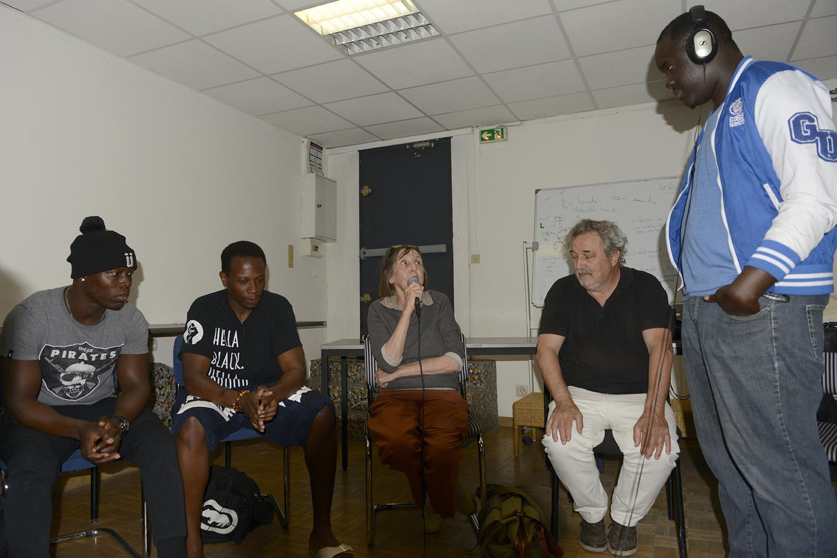 Aziz, Cédric, Nicole, Robert et Mohamed